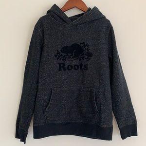 Roots Kids Original Kanga Hoodie Black SzXL